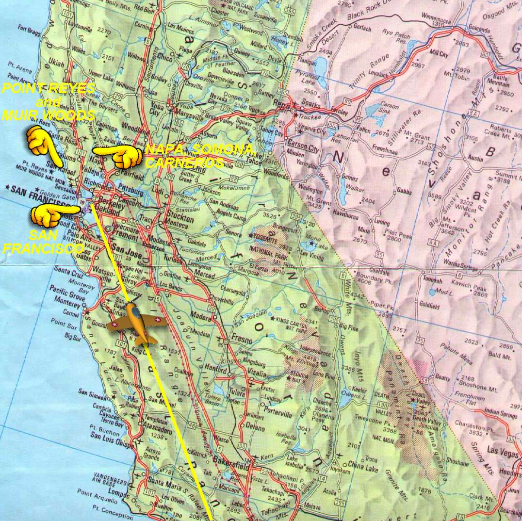 Northern California Map - Detailed map of california